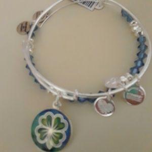 "Alex and Ani  ""4 Leaf Clover Good Luck"" bracelets"